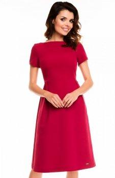 Awama A130 sukienka bordowa