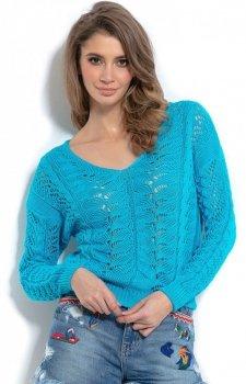 Lekki ażurowy sweterk F1000