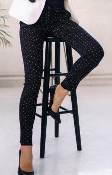 Dopasowane spodnie w groszki Lola Fashion