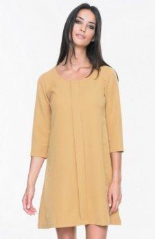 Mosali M023 sukienka musztardowa