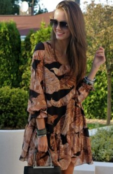 *Roco 217 sukienka liście