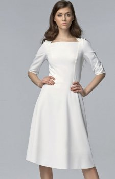 Nife S63 sukienka ecru