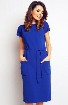Infinite You M085 sukienka niebieska