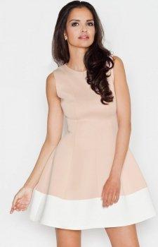 Figl M373 sukienka beż