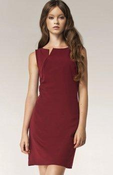 Nife S37 sukienka bordowa