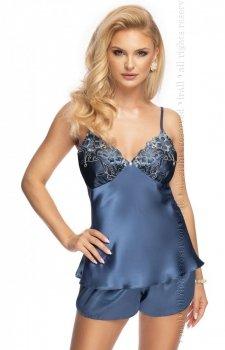 Elodie satynowa piżama damska niebieska