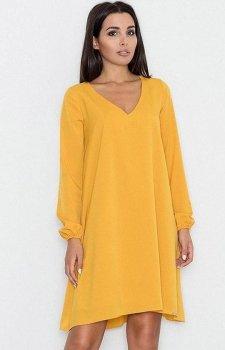 Figl M566 sukienka żółta