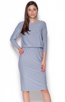 Figl M326 sukienka szara