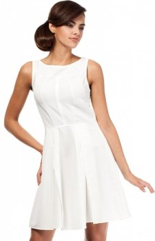 Moe MOE188 sukienka ecru