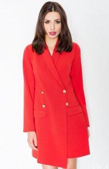Figl M447 sukienka czerwona