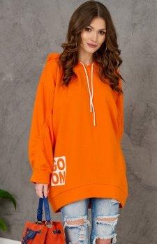 Oversizowa bluza damska 0006 pomarańczowa