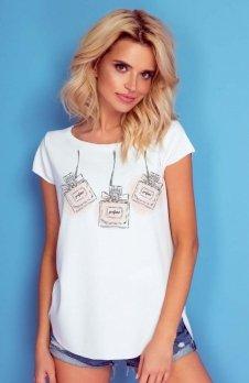 Knits K172 bluzka damska z nadrukiem perfum