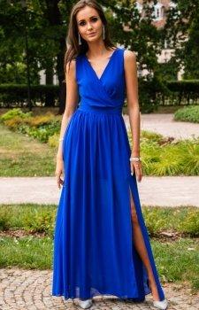 Roco 0213 sukienka chabrowa
