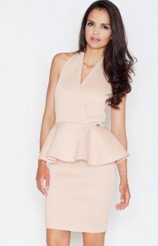 Figl M368 sukienka beż