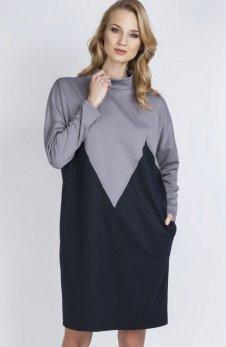 Lanti SUK134 sukienka szara