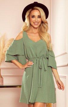 Letnia sukienka oliwkowa Marina Numoco 292-6