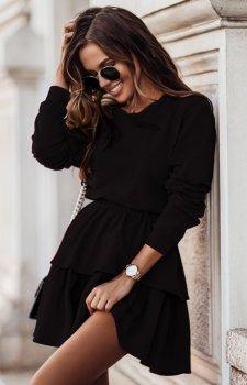 Dresowa spódniczka i bluza Larisa czarny