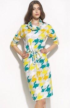 Nife S57 sukienka pepitko