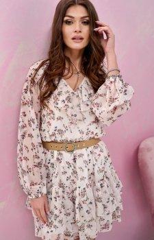 Szyfonowa sukienka w kwiaty 0324/U18