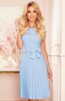 Numoco 311-8 plisowana sukienka midi błękitna