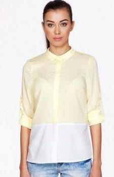 Ambigante 0077 koszula cytrynowa