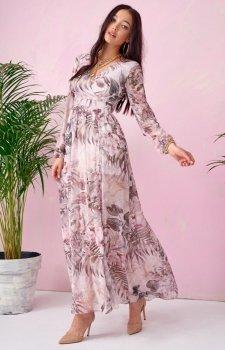 Długa sukienka w kwiaty 0219/U65