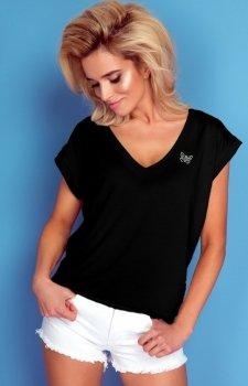 Oversizowa bluzka Knits czarna K348