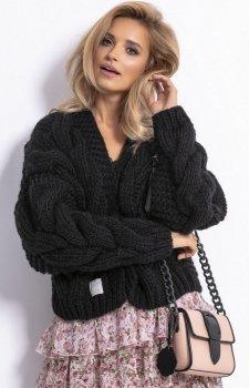 Bomber jacket sweter czarny F800