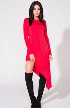 Tessita T152/5 sukienka czerwona