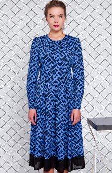 Cover GR1159 sukienka jaskrawoniebieska