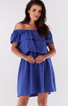 Awama A185 sukienka niebieska
