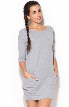 Katrus K181 sukienka szara