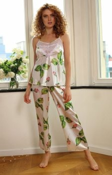 Satynowa piżama damska DK-KC 007