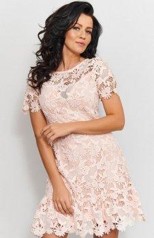 *Roco 0200 sukienka pudrowy róż