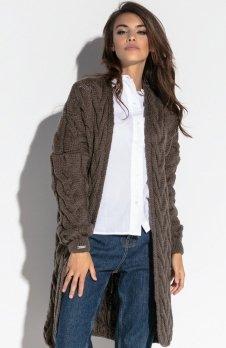 Fobya F573 sweter brązowy