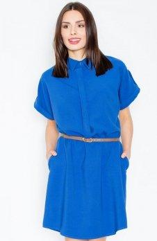 Figl M442 sukienka niebieska