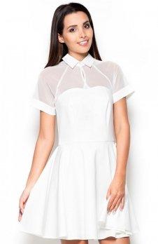 Katrus K399 sukienka ecru