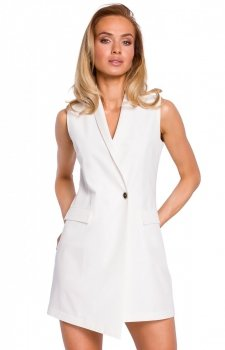 Elegancka sukienka marynarka ecru M439