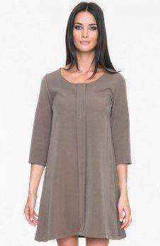 Mosali M023 sukienka brązowa
