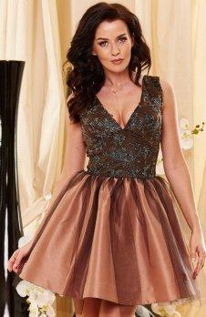 Roco 0150 sukienka ciemny beż