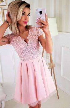 Bicotone 2180-12 sukienka rozkloszowana różowa