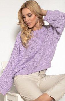 Oversizowy lawendowy sweter F1155