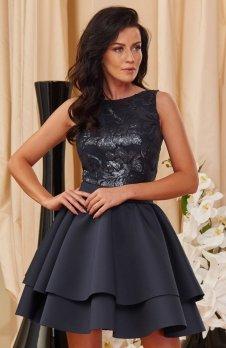 Roco 0161 sukienka granatowa