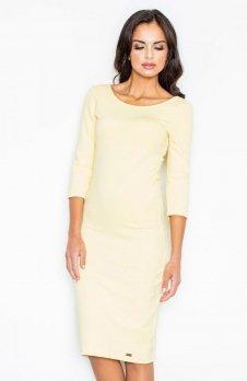 Figl M301 sukienka żółta