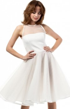 Moe MOE148 sukienka ecru