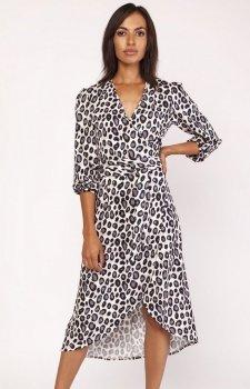 Lanti SUK161 sukienka w panterkę