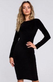 Welurowa ołówkowa sukienka Moe M565