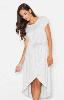 Figl M394 sukienka szara