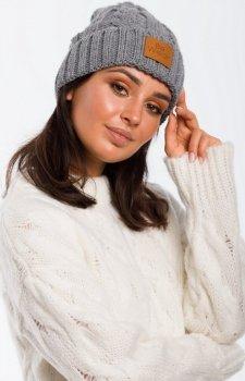 Ciepła czapka warkocz BK043