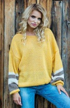 Fobya F578 sweter żółty